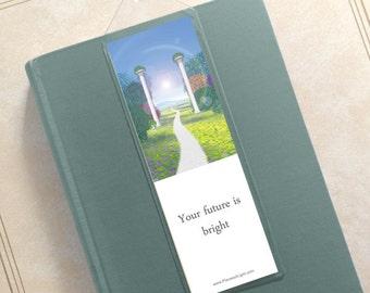 Inspirational bookmark, stocking stuffer, motivational bookmark, metaphysical item, small gift, congratulations gift, mystical gift, success