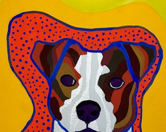 Jack Russell Terrier Gouache Portrait Painting, Jack Russell Painting, Jack Russell Terrier Art, Dog Painting, Dog Wall Art