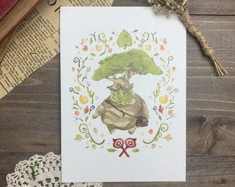Korok Legend of Zelda Watercolor Art Print
