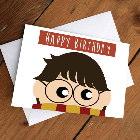 HARRY POTTER CARD // Happy Birthday Love Friendship Cute