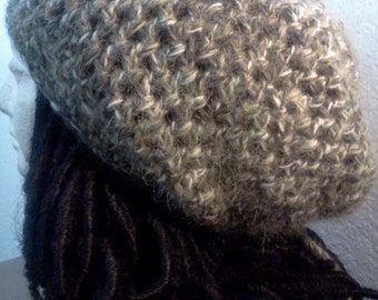 "The ""You Never Knew"" Drawstring Tam // Crochet Tams // OOAK Men's Slouchy Rasta Hats // Holiday Gifts // Christmas Gifts"