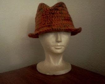 Custom Classic Fedora // Crocheted Fedoras // Unisex Hats // Holiday Gifts // Christmas Gifts
