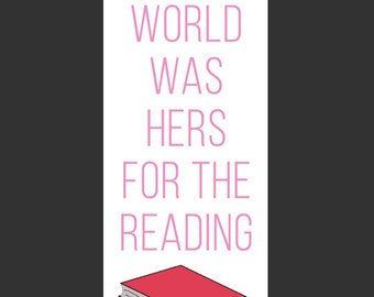 Printable Bookmark - Reading Quote