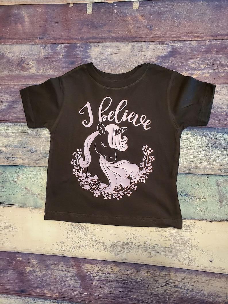 Toddler Sister Shirt I Believe In Unicorns Toddler Shirt Toddler Unicorn Believe Shirt
