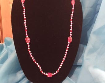 Shades of Pink, Necklace, Beaded