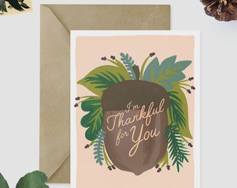 thanksgiving cards etsy