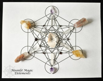 Printable Crystal Grids 4 Pack Sacred Geometry Mandala