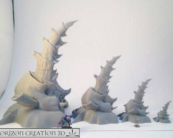Terra Terrain Stone Wall Set Wargames Miniatures Scenery 40k 28m 15mm HC3D