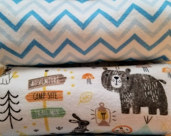 NEW!!! Set of 2 extra large flannel receiving blanket Camping, outdoor sports, fishing, canoeing baby blanket.