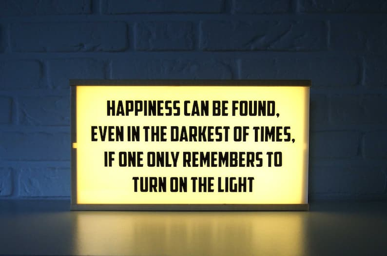 Harry Potter Light Box Happiness Can Be Found Home Etsy