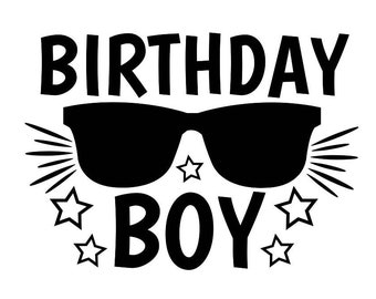 Birthday Boy Svg Birtday Party Silhouette Files Cricut Dxf Eps Png