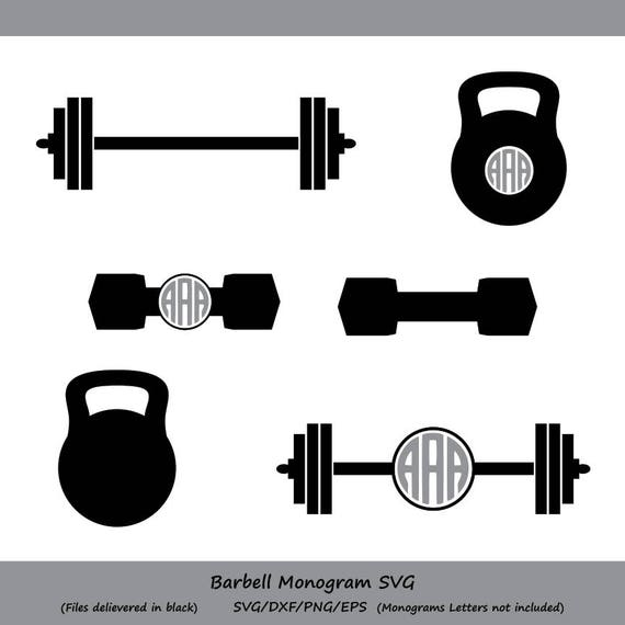 Weight SVG Kettlebell SVG Monogram