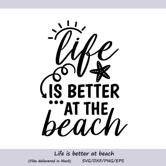e97175b182 Life is better at the beach Svg Beach Svg Summer Svg Summer | Etsy