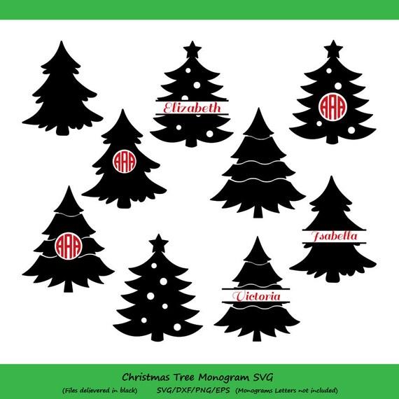 Weihnachtsbaum Svg Weihnachtsbaum Monogramm Svg | Etsy