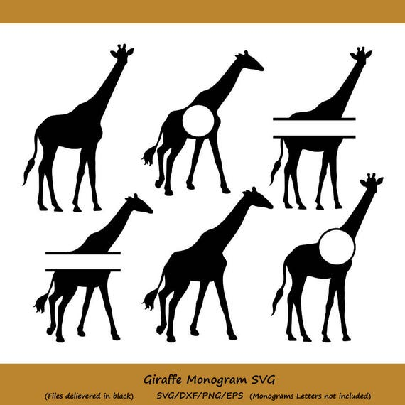 Giraffe Svg File Giraffe Monogram Svg Giraffe Cut File Etsy