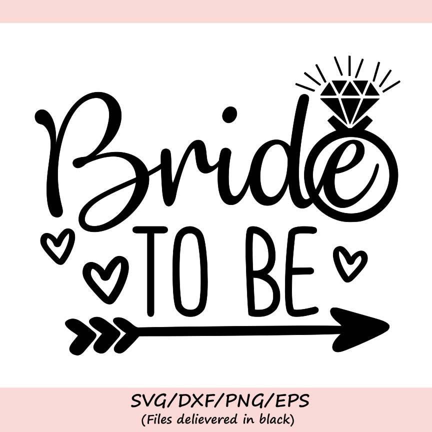 wedding ring silhouette wedding bachelorette print engaged svg Bride svg bride to be svg