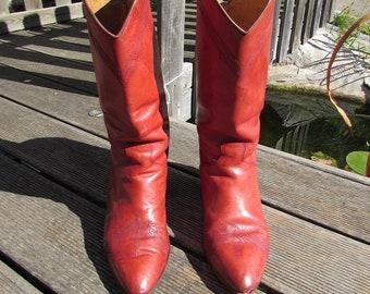 3aac60bc7 Bottes en cuir pour femme | Etsy