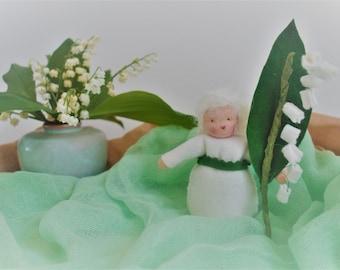 Seasonal table figures - van - drop Spring seasonal table - Free school - Anthroposophicflower child - Waldorf table - Sustainable -