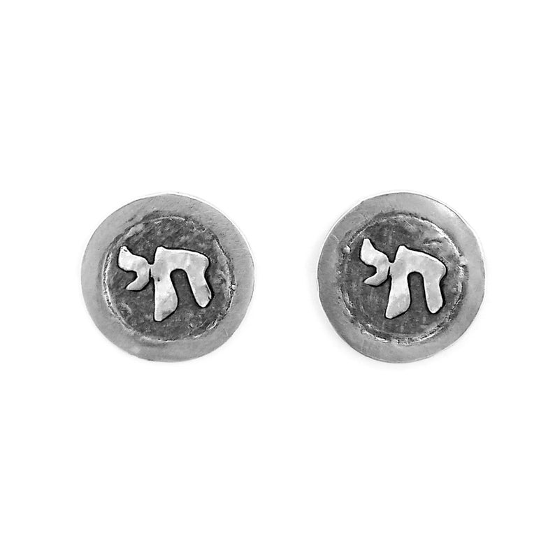 Anniversary gift for men Chai Cufflinks Set with Stones groomsmen gift father/'s day Handmade Gift for him 925 Sterling Silver