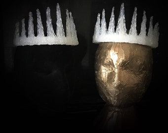 Ice Crown, Ice Queen Crown, Ice King Crown, Frozen Crown, Ice Crown
