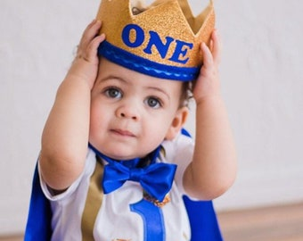 Personalized First Birthday Outfit Boy || Prince 1st birthday costume || Cake smash outfit || Birthday Prince || Prince Cape || Photo Prop