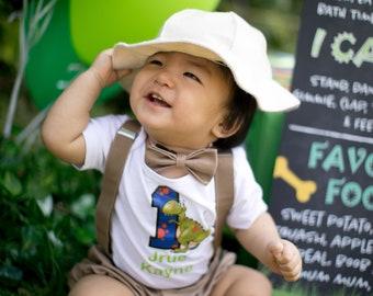 Dinosaur 1st Birthday safari outfit