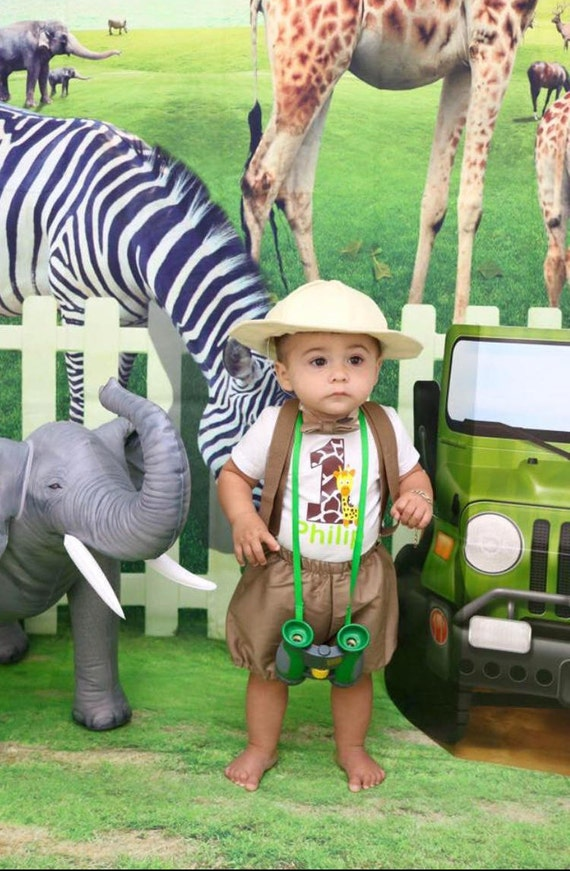 7ca290b324c06 1st Birthday Outfit Jungle Safari Explorer Baby Boy Outfit