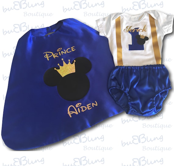 1st Birthday Outfit Mickey Outfit Mickey Prince Etsy