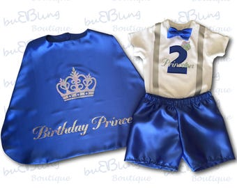 Toddler 2nd Birthday Prince Outfit Boy
