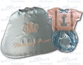 Light Blue 1st Birthday Prince Outfit