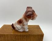 Dog, Hound Dog statue, porcelain figure, ceramic figure, marked Made in Japan on bottom