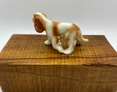 Dog, Hound Dog statue, porcelain figure, ceramic figure, unmarked