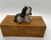 Dog, Lefton China Dog statue, porcelain figure, ceramic figure, marked hand painted Geo Z Lefton 1987