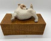 Dog, Scruffy Hound Dog statue, porcelain figure, ceramic figure, marked Denmark 3087