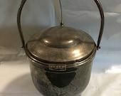 Vintage Ice Bucket with handle and automatic opener