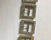 vintage Ronci belt buckle lot with glass diamonds