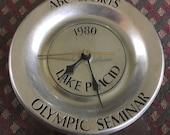 Olympics Lake Placid 1980 ABC (American Broadcasting Company) clock