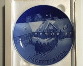"""SALE -> 1969 B&G Christmas Plate Bing and Grondahl """"Arrival of Christmas Guests"""""""