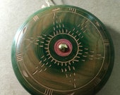 Vintage Mexican Yo-Yo large format in green, red and brown