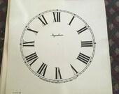 Clock Faces in paper
