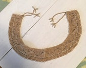Vintage Collar made by Barr & Beards - top fashion beaded collar faux pearls and tube beads