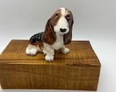 Basset Hound Dog porcelain or ceramic figure - marked Jane Collection CA #9