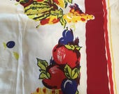 A vintage hand printed table cloth