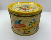 Vintage Golden Toffee Wafers tin with great graphics