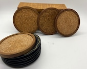 Vintage coaster lot - metal and wood coasters from 60s 10 total