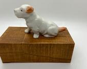 Dog, Hound Dog statue, porcelain figure, ceramic figure, marked Japan on bottom