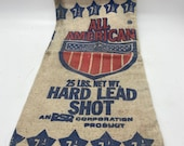 Shooters, Shot lead bag, Vintage Lead Shot canvas bag from All American