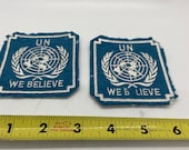 Patches, United Nations Patches, vintage Seventies NYC