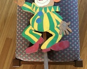 Clown, Childrens party clown, Vintage clown on a stick, still scary after all of these years