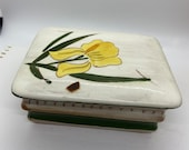 Stangl, Lidded Box, Cigarette Box, Ceramic Box, Vintage Stangl